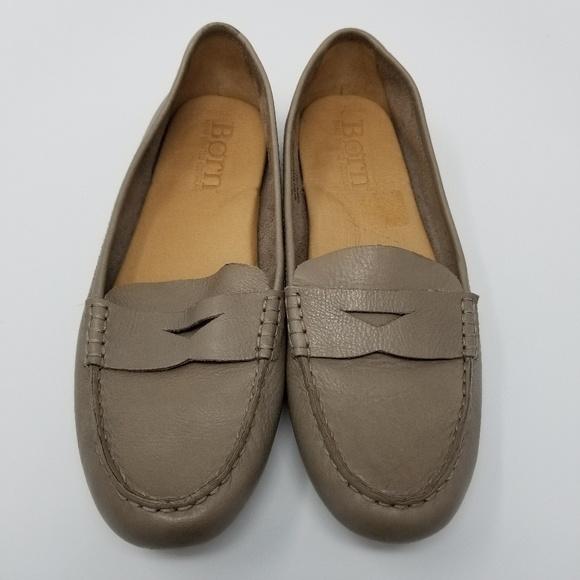 046e6ae1094 Born Shoes - Born Malena Taupe Full Grain Leather Loafer